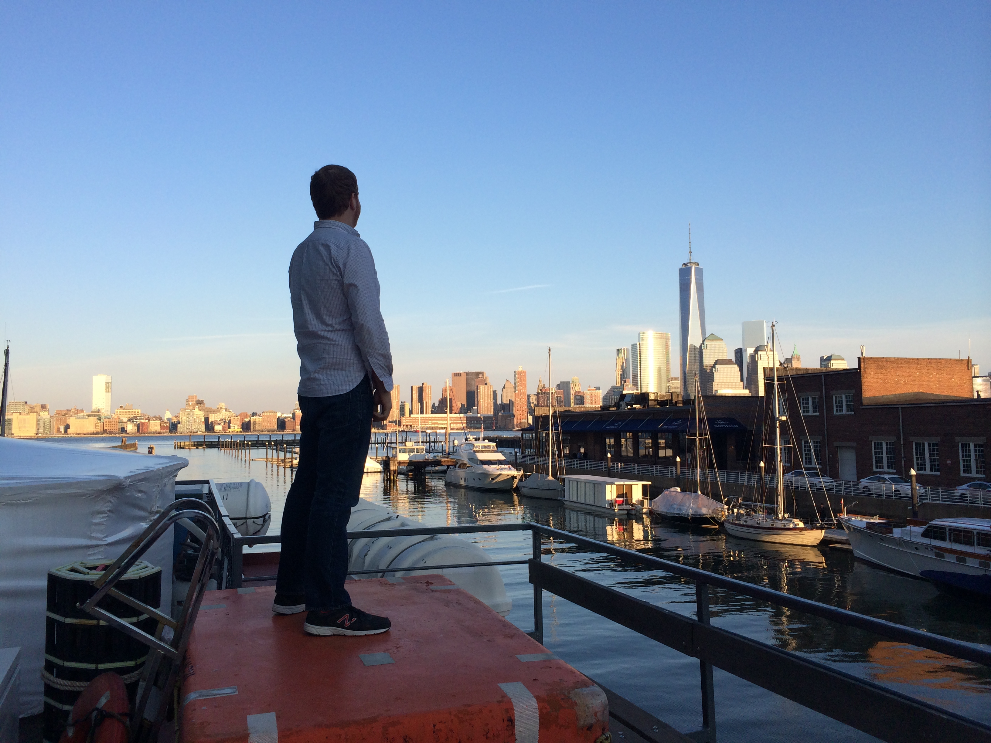 Staring at the New York City Skyline